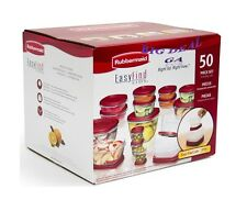 Rubbermaid Easy Find Lid BPA-FREE Plastic Food Storage Containers Set 50 Pc