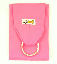 New RRP$59 Walkabout Baby Ring Sling Carrier Pouch Wrap Tula Cotton Pink 5 in 1