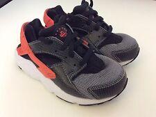 Nike huarache kids baskets Uk10 nourrissons, Eu27.5 gris & orange, gc