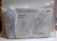 Patchmakers' Almost-Ready-To-Wear Kit 375: Damask Blouse, Medium New Old Stock