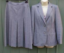 St Michael vintage grey midi skirt suit tailored office wear size M