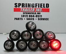 "3/4"" CLEAR RED CLEARANCE LED MARKER LIGHT 1 DIODE (SET OF 10)"
