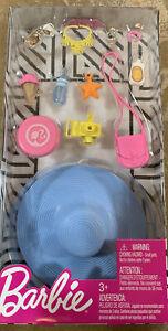 Barbie Fashion Beach Vacation  Accessory Sun Hat Sun Screen Camera Ice Cream NEW