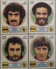 Wolverhampton Wanderers 4 x PANINI'S CALCIO 82 STICKERS Figurina PANINI