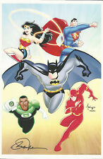 Billy Tucci SIGNED Art Print DC Animated Justice League