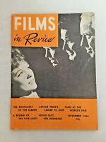 Vintage FILMS in Review Magazine Nov 1964 Vol. XV No.9 The Americanize of Emily