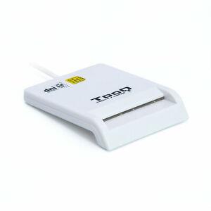 Lector Externo DNI electrónico Tarjetas Inteligentes USB 2.0 480Mbps BLANCO TOOQ