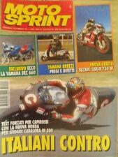 Motosprint 6 1995 test Yamaha SRZ 660 - Test Suzuki GSX-R 750 W