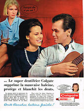 PUBLICITE  1963   COLGATE dentifrice