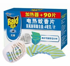1pcs Raid Smell Free Electric mosquito repeller + 90pcs Mat Refill 12hrs/pcs