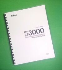 LASER PRINTED Nikon D3000 Camera 216 Page Owners Manual Guide