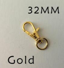 32mm Gold Ring Charm Iron Parrot Swivel Lobster Clasp Dog Chain Bag Keyrings