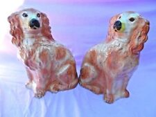 Dogs Ceramic Antique Original Staffordshire Pottery