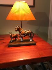 Vintage Gilbert Products Clydesdale Horse Table Lamp Plastic Original Shade