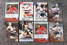 Lot of 8 Original New Jersey Devils Hockey NHL Cards Signed Autograph