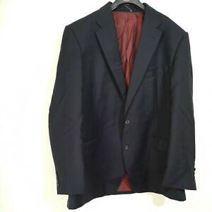 "M&S Sartorial Men's Suit Jacket Only 100% Wool Size Chest 44"" R Medium Navy"