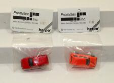 dd Lot 2 Promotex/Herpa #6187 Jeep Cherokee HO 1:87 scale orange & red
