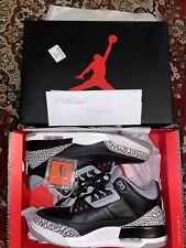 Nike Air Jordan 3 Black Cement Sportive Scarpe Gym Basket Size 11