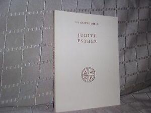 Judith Esther La Sainte Bible éditions du cerf 1952