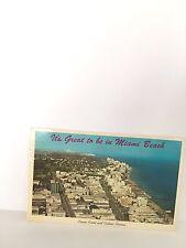 "PC MIAMI, FLORIDA, FL, ""It's Great To Be In Miami beach"" Slogan,Skyline 1965"
