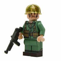 Lego Custom US MARINE NCO WW2 Full Custom Printing with Brickarms M1A1 -NEW-