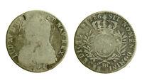 s56_30) Louis XV, 1/2 Écu aux Branches d'Olivier 1726 BB Strasbourg