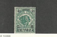 Eritrea (Italy), Postage Stamp, #59 Mint NH, 1922 Elephant