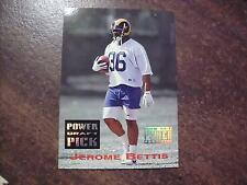 JEROME BETTIS 1993 PRO SET POWER FOOTBALL , POWER DRAFT PICK ROOKIE CARD #PDP14