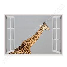 Africas Giraffe by Fake 3D Window   Ready to Hang Canvas   Wall art paint HD