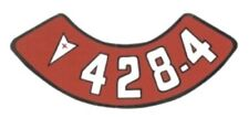 Pontiac 428-4V Air Cleaner Decal, Red & White on Silver
