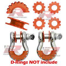 Orange D-Ring Shackle Isolator & Washers 6pcs Kit Set Rattling Protection Covers