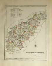 1845 ANTIQUE COUNTY MAP NORTHAMPTONSHIRE DAVENTRY KETTERING TOWCESTER