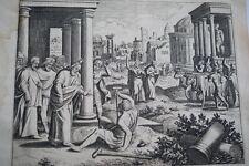 GRAVURE SUR CUIVRE BOITEUX SAINT PAUL-BIBLE 1670 LEMAISTRE DE SACY (B244)