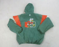 VINTAGE Starter Miami Hurricanes Jacket Adult Extra Large Green Football Men 90s
