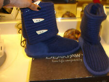Bear Paw Knit Tall Short Sweater Blue Boot Nice Quality Comfortable $95 7