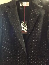 jaeger boutique Black With Gold Dot Jacket New With Tag 12