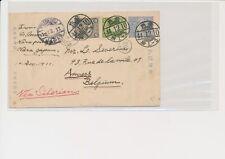 LM68660 Japan via Siberia to Belgium fine postcard used