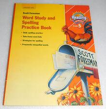 Scott Foresman Reading Street Grade 5 Word Study Spelling Practice Workbook