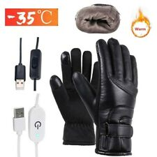 Motorcycle Electric Heated Gloves Windproof Cycling Skiing Winter Warm USB Power