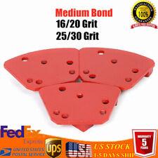 Diamond Tools 3Pack Trapezoid Medium Bond Grinding Pads Grit 16/20&25/30 USA