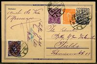 GERMANY POSTCARD  JANUARY 1923 GREAT FRANKING