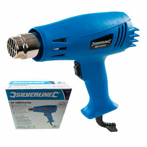 Silverline DIY 1500W Electric Heat Gun for Paint Stripping/Drying Power Tool