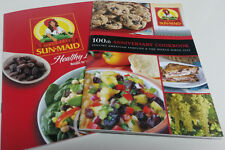 2 Piece Cookbook Lot Set Sun-Maid Raisins 100th Anniversary Edition Healthy