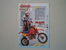 advertising Pubblicità 1989 MALAGUTI GRIZZLY RCX 50