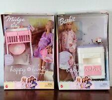 Barbie Happy Family Midge & Baby 2002 #56663 & Barbie Baby Doctor #56726 Lot