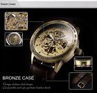 Reloj De Hombre estilo Vintage Auto-bronce y piel