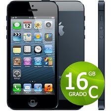 IPHONE 5 16GB NERO ORIGINALE  + ACCESSORI + GARANZIA - RICONDIZIONATO - 5G