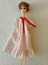 """Vintage plastic doll - 11.5"""" - Rouge à Pois Nuisette"""