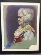 "Olinsky (Ivan?) 11-10-1944 signed pastel drawing 25"" X 20"" matronly woman"