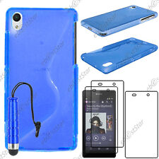 Coque SiliconeS-line Bleu Sony Xperia Z2 D6503+Mini Stylet+3 Film écran